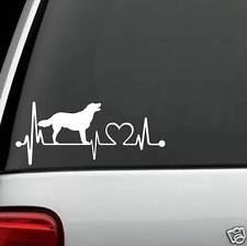 K1044 Golden Labrador Heartbeat© Dog Decal Sticker Car Truck SUV Van LAPTOP