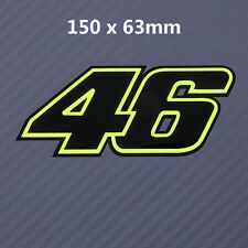 FLUORESCENT Green Valentino Rossi 46 Sticker Decals Black Vinyl 150mm F181