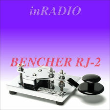 BENCHER RJ-2 HAND MORSE CODE CW KEY RADIOTELEGRAPHY CHROME BASE & COMPONENTS RJ2