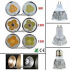 Bright 9W 12W 15W MR16/E27/GU10 CREE LED Spotlight Down Lamp Bulb Warm/Day White