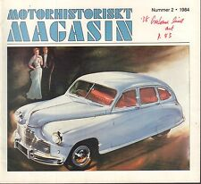 Motorhistoriskt Magasin Swedish Car Magazine #2 1984 Ford '40 Coupe 031617nonDBE
