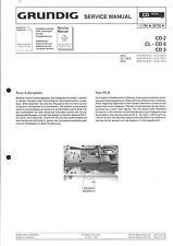 Grundig Original Service Schaltplan für  CD 2 - CL-CD 6 - CD 3