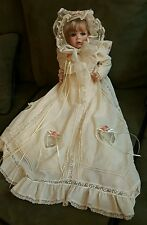 """Hamilton Collection """"Elena"""" Porcelain Christening Doll Numbered"""