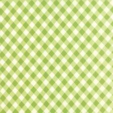 Green Gingham Fabric Bonnie & Camille Fabric Moda Vintage Picnic Fabric By 1/2Y
