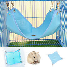 New Blue Hanging Bed Cage Mat Cloth Hammock For Rat Hamster Mouse Cat Small Pet
