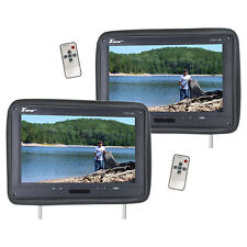 "Tview T122PLBK 12.1"" Headrest Monitor Ir Transmitter Remotes (2) Black Pair"