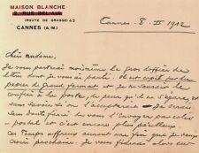 LAS Octave Uzanne bibliophile homme de lettres à la mère de Jean Lorrain 1912