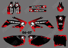 TEAM GRAPHICS BACKGROUNDS DECALS STICKERS For HONDA CRF250 CRF250R 2006 07 D6