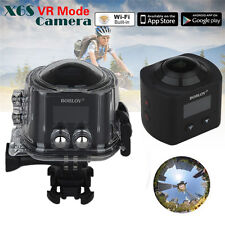 16MP 4K HD 30fps 360 Degree Panoramic VR Action Camera Waterproof Built-in WIFI