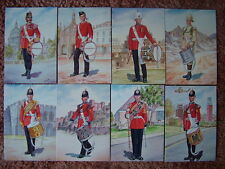 8 Card Set No 33 Military Postcards DRUMMERS PRINCESS OF WALES REG. Mint cond.