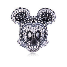 Genuine Pandora Silver Disney Sparkling Mickey Head Portrait Charm 791795NCK New