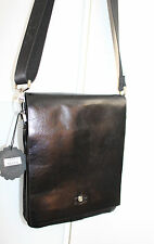 Stunning Designers Real Leather Shoulder Bag Brand New RRP £150 Men /Unisex Gift
