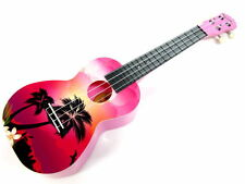 KEALOHA CONCERT UKULELE Durable & Lightweight ABS Construction *Palm Trees* NEW!