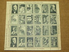 1930's Ireland Irish Hospitals Sweepstakes complete sheet of 24 stamps