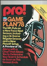 1977 ST LOUIS CARDINALS VS WASHINGTON REDSKINS NFL FOOTBALL PROGRAM