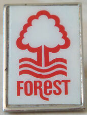 NOTTINGHAM FOREST Vintage 1970s 80s Insert badge Brooch pin Chrome 29mm x 20mm