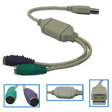 Lot 10X USB Male to PS2 Female Cable Adapter Converter Use for Keyboard Mouse