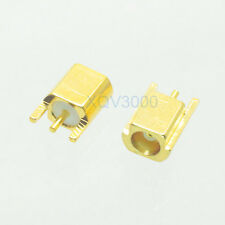 10pcs Connector MCX female jack pin solder PCB edge surface mount straight