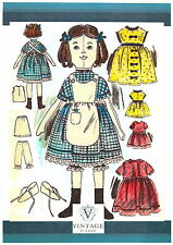 Victorian Rag Doll & Clothes sewing pattern-Vintage style-full size paper pieces