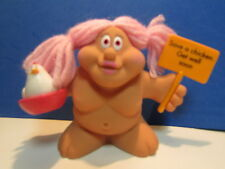 """SAVE A CHICKEN, GET WELL SOON - 3"""" Russ Troll Doll - NEW IN ORIGINAL WRAPPER"""