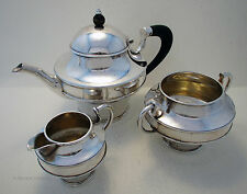 Arts and Crafts STERLING SILVER Bachelor TEA POT SUGAR BOWL MILK JUG SET SERVICE