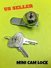 90° Mini Cam Lock File Cabinet Mailbox Desk Drawer Cupboard Locker + 2 Keys