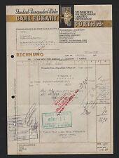 FÜRTH i. B., Rechnung 1937, Standard-Bronzepulver-Werke Carl Eckart