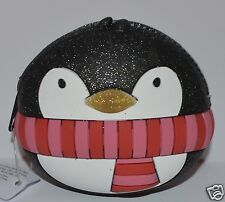 BATH & BODY WORKS PENGUIN ZIP UP COIN PURSE LIP GLOSS BAG HOLDER MAKEUP COSMETIC