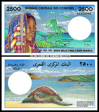 COMOROS COMORES 2500 2,500 FRANCS ND 1997 UNC P 13
