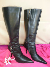 MINT $495 DONALD J PLINER FASHION BUCKLES TOP Stiched LEATHER BOOTS SEXY 8 /38