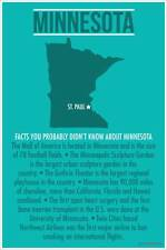 Minnesota - NEW USA State Travel Classroom Social Studies POSTER