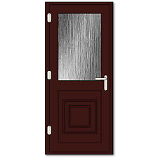 Rosewood Half Glazed uPVC Door | Cherrywood uPVC Back Door, High Security