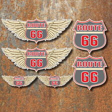 Route 66 Sticker Set Car Motorbike Americana Mother road USA Decals