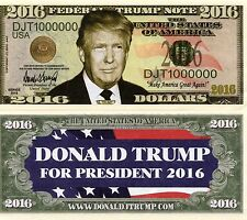 Donald Trump For President 2016 Novelty Money
