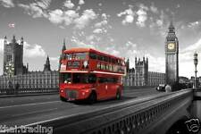 "London Westminster Bridge Bus Photo Fridge Magnet 2""x3"" Collectibles"