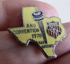 RARE BEAU PIN'S USA TEXAS AAU CONVENTION 1978 SAN ANTONIO EGF