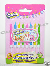 SHOPKINS CAKE DECORATION CANDLES 8 PK VELAS DE CUMPLEANOS CUPCAKE CAKE CANDLES