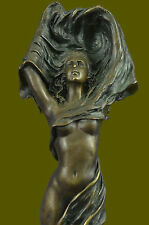 Bronze Sculpture by Julius Erte Wind Beneath Me Hand Made Masterpiece Figurine