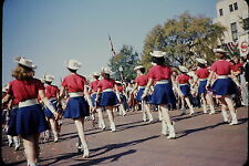 1950's Color Slide Kilgore Rangerettes Drill Team Rear View Close Up Red Border
