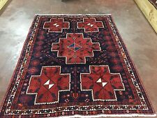 """Hand Knotted Persian Abadeh-Shiraz Geometric Rug Carpet  5x7,5'7""""x7'3''"""