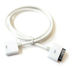WHITE 30 Pin Audio Sound Dock Connector Cable for Apple iPhone 4 4S i Home Bose