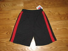 NEW Miami Heat Boys Youth Athletic Shorts Size L 16-18 Red Black Girls Large Lg