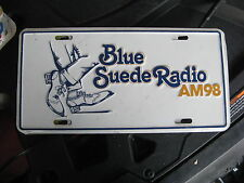 FLORIDA FL BLUE SUEDE RADIO AM 98 BOOSTER FRONT LICENSE PLATE