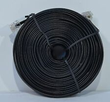 100FT BLACK TELEPHONE EXTENTION PHONE CORD CABLE LINE