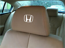 HONDA LOGO CAR SEAT / HEADREST DECALS - BADGE - Vinyl Stickers - Graphics X5