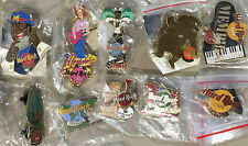 10 Hard Rock Cafe MEMPHIS PIN LOT 1998-2001 Anniversaries City Holiday Logo PLUS