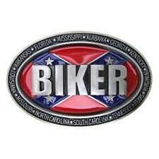 Florida Cross Flag Biker Metal Belt Buckle Mens North&South Rebel Cowboy Leather