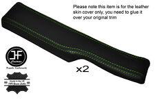 Green stitch 2x rebord de porte accoudoir peau de cuir couvre fits CORVETTE C4 84-87
