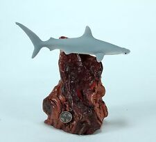 HAMMERHEAD SHARK Sculpture New direct from JOHN PERRY 7in tall. Statue on Wood