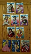 Set of 15 Sailor Moon SuperS Collectible Double Sticker Cards Battle